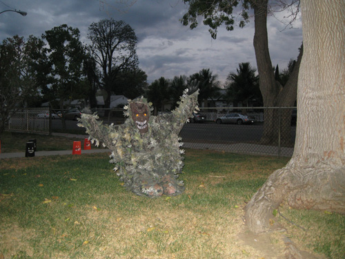 My husband, the scary leafy man!