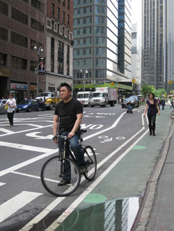 Bike lane on 7th avenue around 57th street