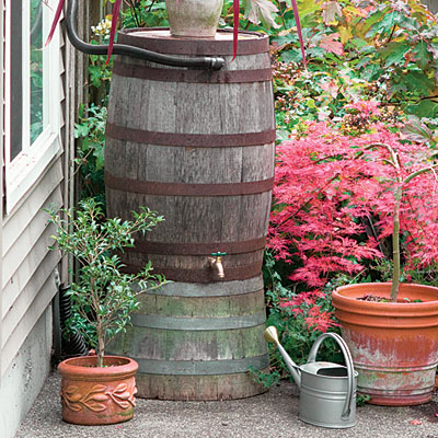 Rain Barrel Harvesting (Photo by Sunset Magazine)
