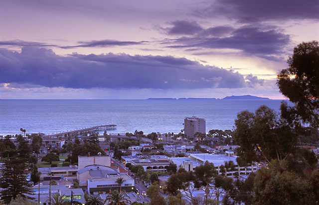 Ventura County at dusk