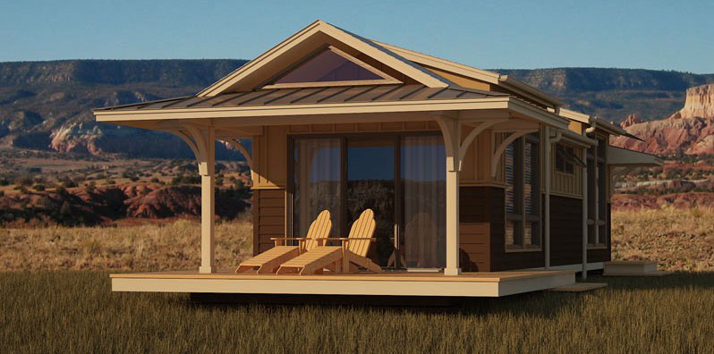 Eco cottages and sheds little house in the valley for Modular beach cottages