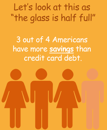 The Glass is Half Full; 3 out of 4 Americans Have More in Savings than Debt