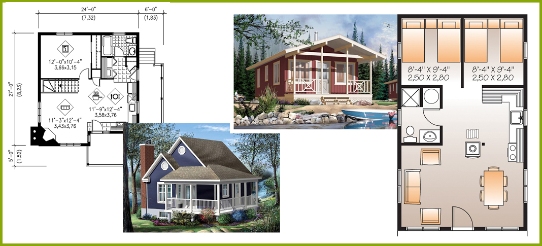Tiny little and small house plans little house in the Tiny house floor plan kit