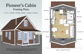 Tiny House Design S Pioneer Cabin 16 X 20