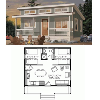 Tiny little and small house plans little house in the for Tiny beach house plans