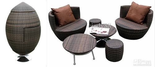 Creative patio furniture for small spaces little house for Creative furniture for small spaces