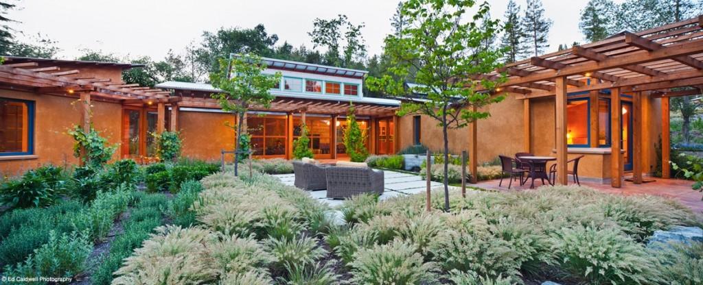 Modern Straw Bale House.