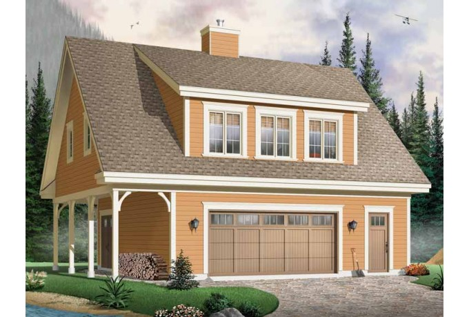 Carriage or garage house plans little house in the valley Home plans with detached guest house