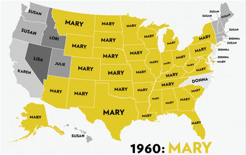 Baby Name Map from Visua.ly