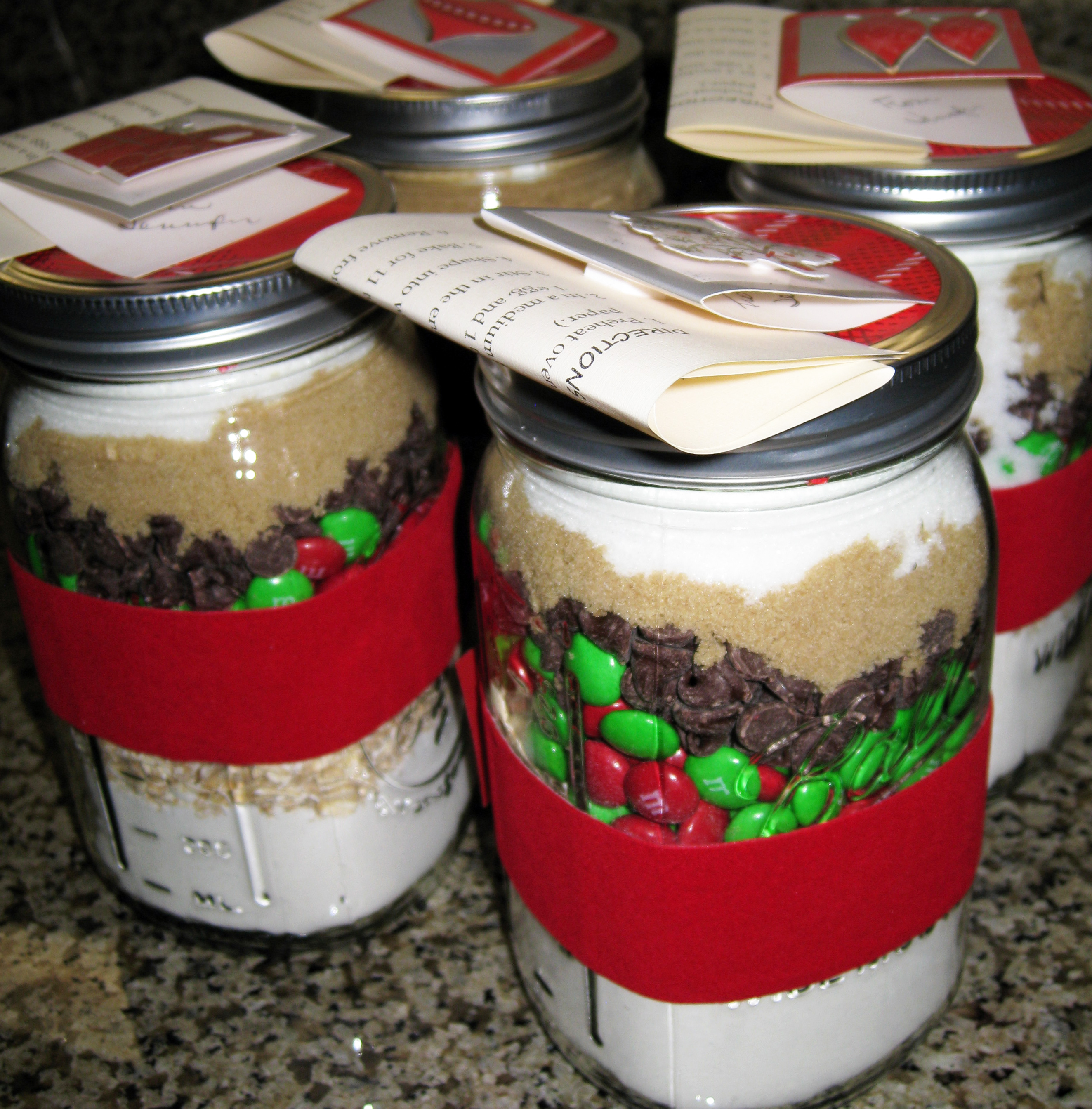 Homemade Gift Jars and Cookies