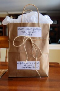 Brown paper gift bag- pinterest
