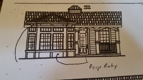 Rough sketch of our house.