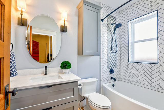 bathroom mirror for small house