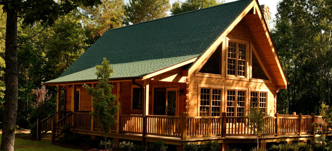 Attention to detail and luxury elements make custom log for Custom luxury log homes