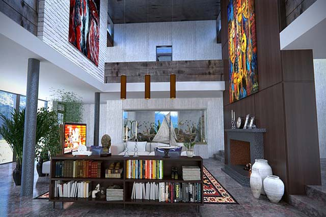 Study in living area