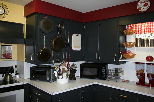 Pegboard for kitchen items