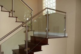 types of glass railing